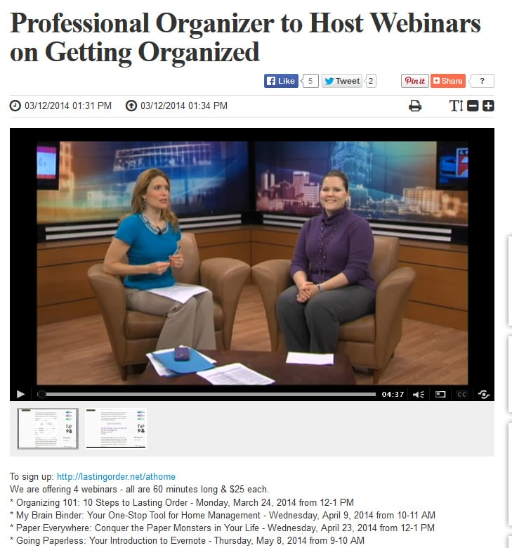Visit to Lifestyles {March 2014}: Upcoming Webinars