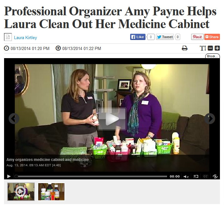 How to Organize Your Medicine Cabinet {Visit to Lifestyles – Aug 2014}