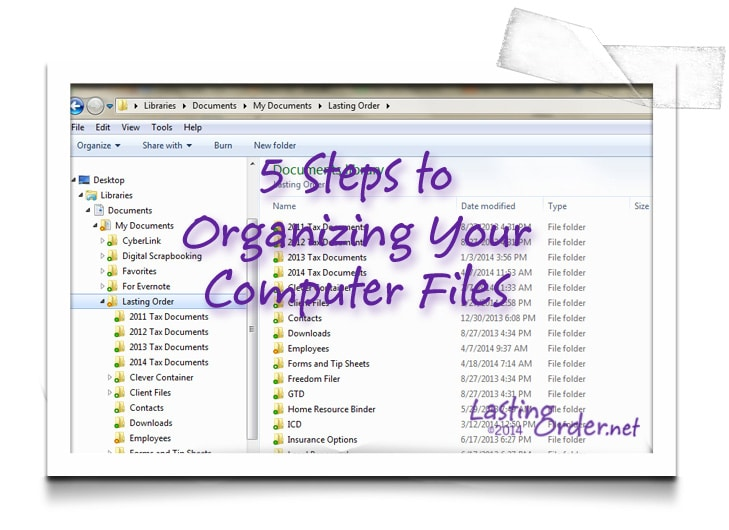 5 Steps to Organizing Computer Files