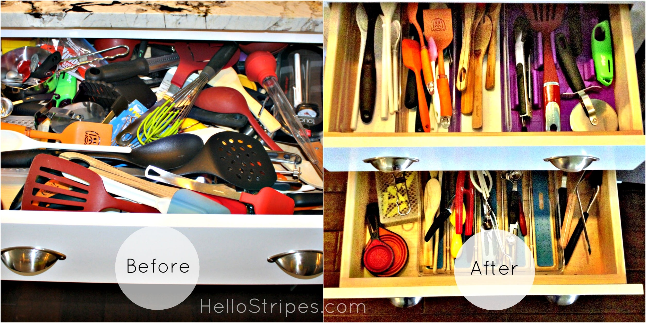 Organizing the Kitchen {Before & After Photos}