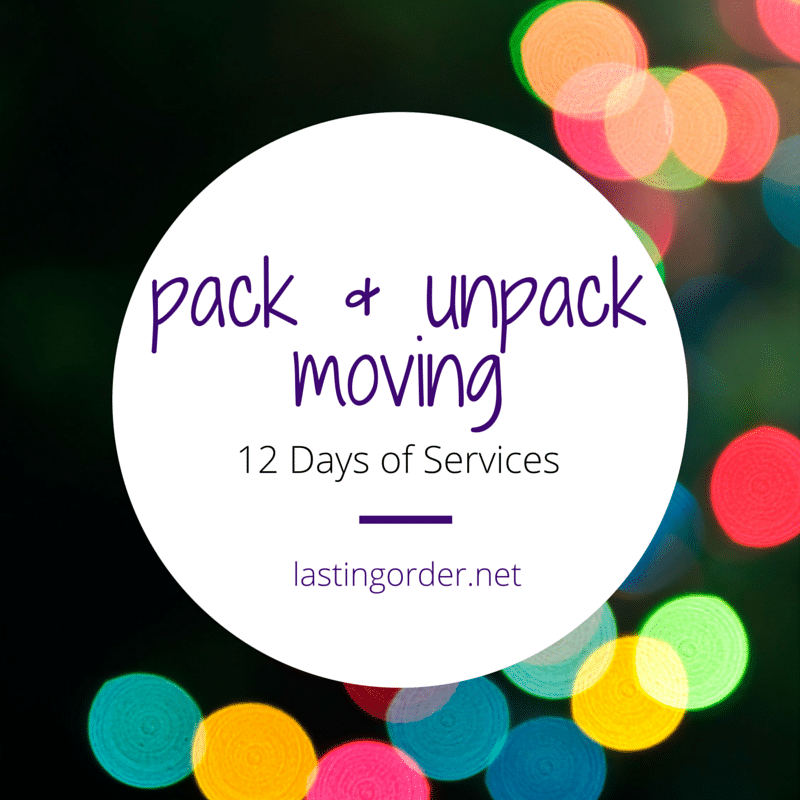 12 Days of Services – Day 12: Pack & Unpack Moving Services