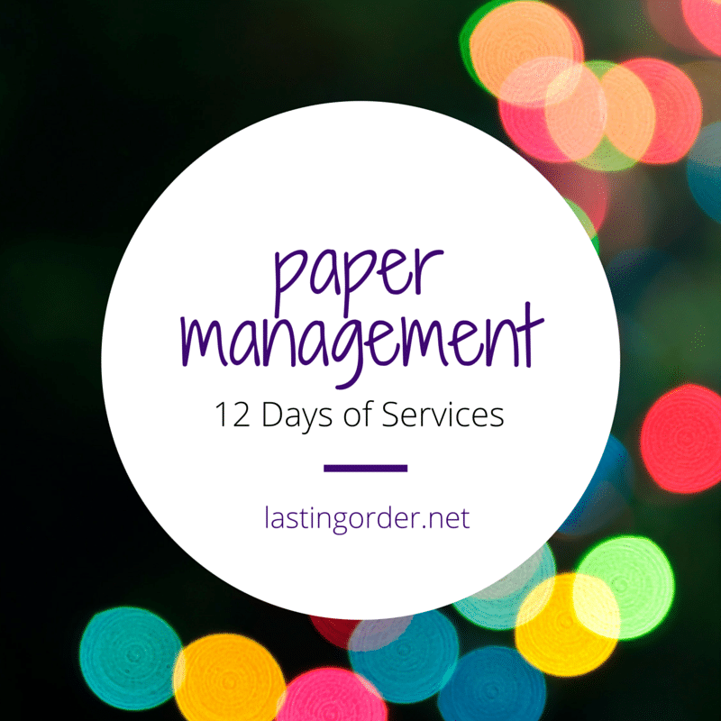 12 Days of Services – Day 4: Paper Management