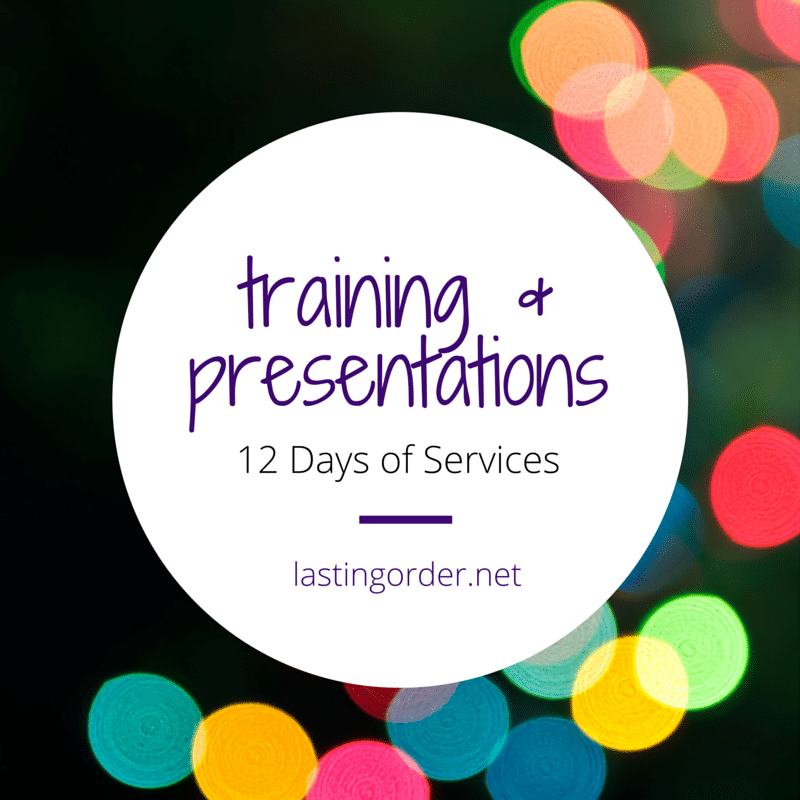 12 Days of Services  – Day 9: Training & Presentations