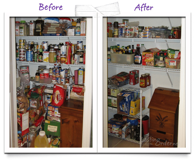 Before and after Pantry