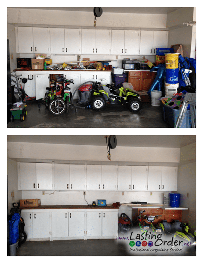 Before and after garage